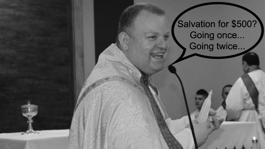 Priest Gambles Money