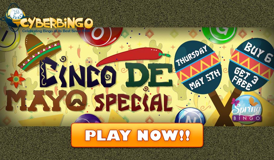 CyberBingo Cinco de Mayo Celebration
