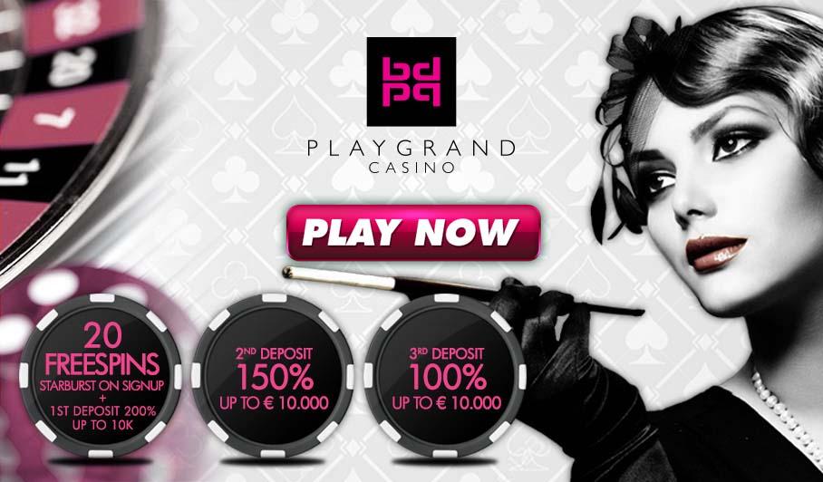 playgrand casino sign up bonus