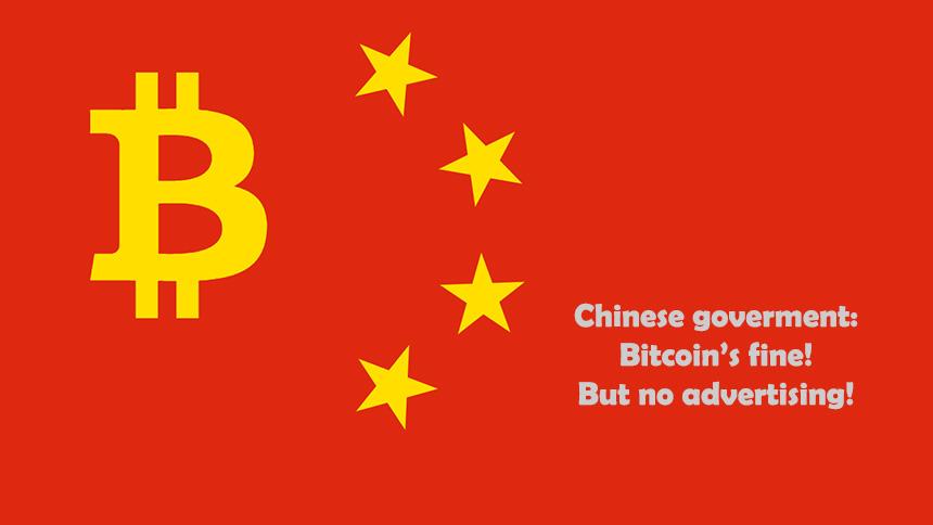 China Bitcoin Advertising Ban