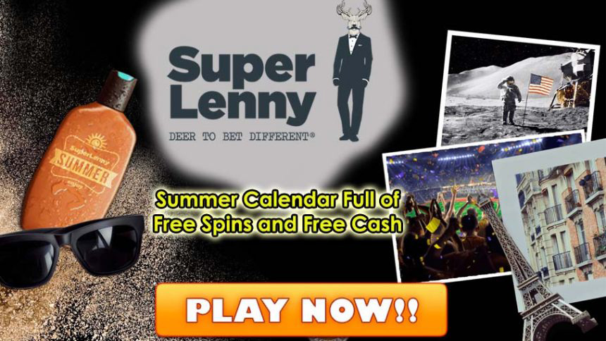 SuperLenny Casino Summer Calendar