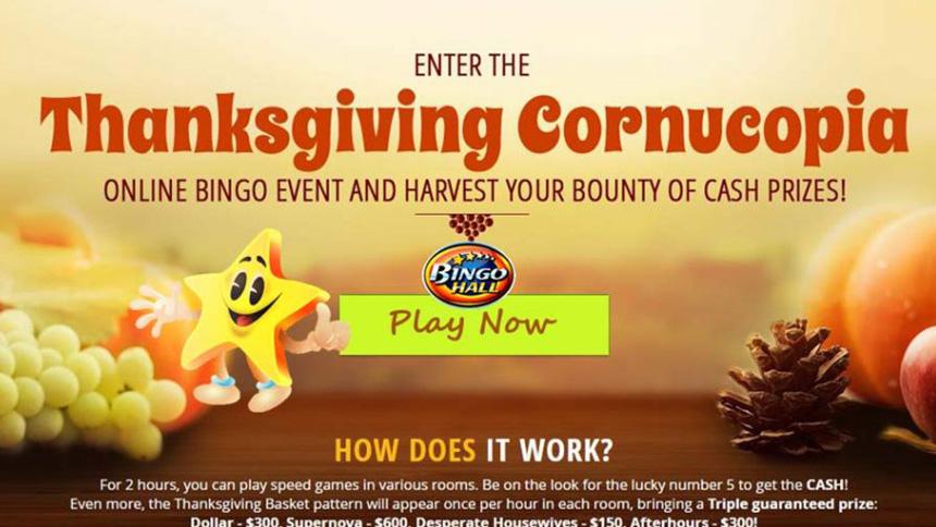 BingoHall Thanksgiving Bonus