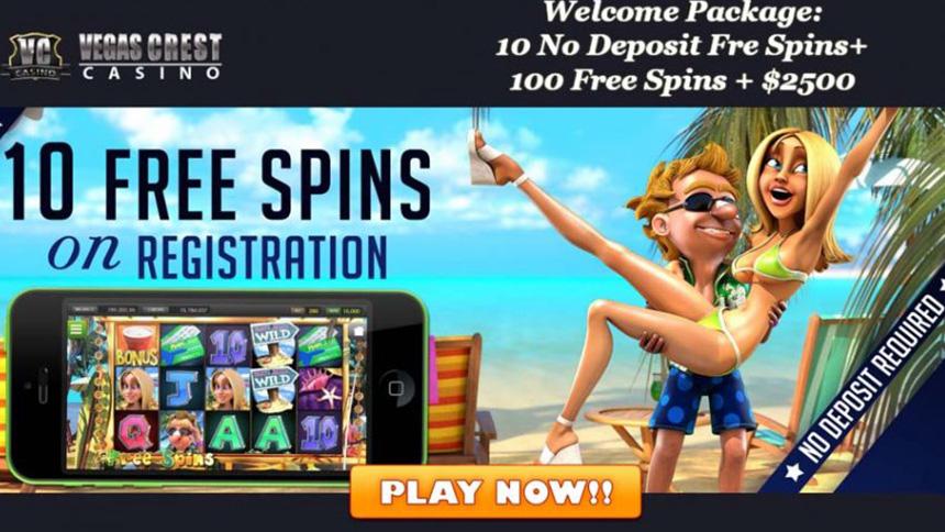 Vegas Crest No Deposit Bonus