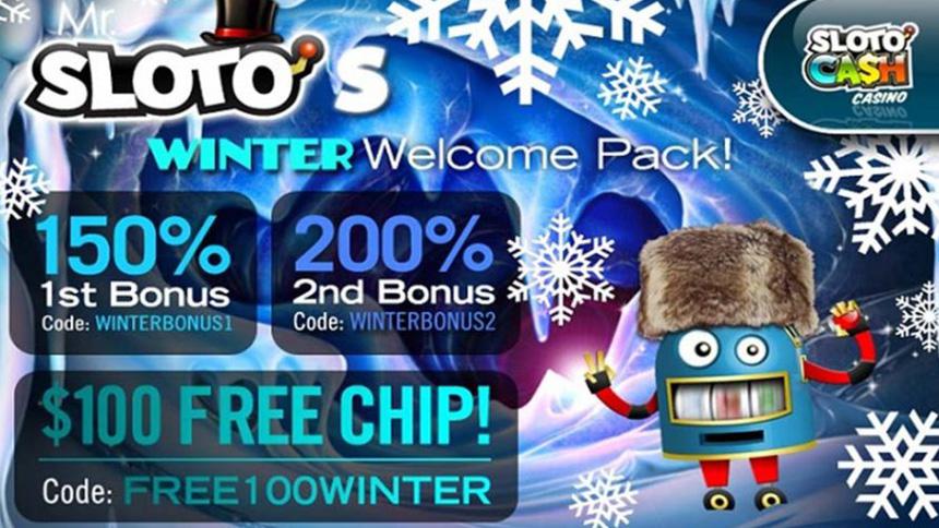 Sloto Cash Casino Winter Welcome Pack