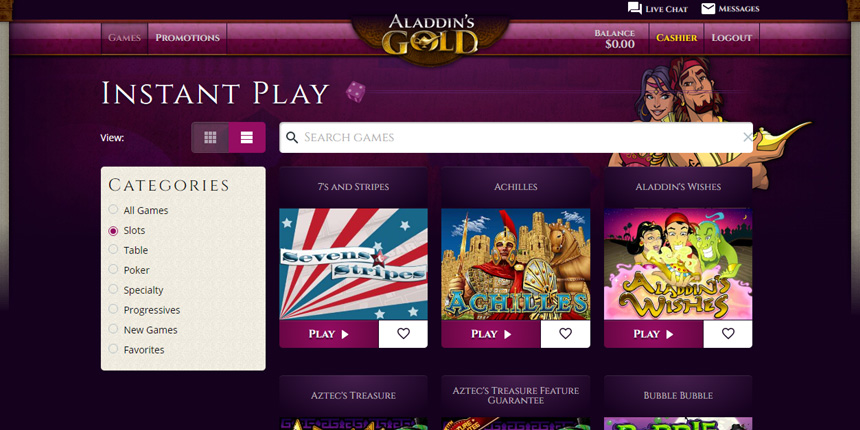 Aladdins gold casino coupon