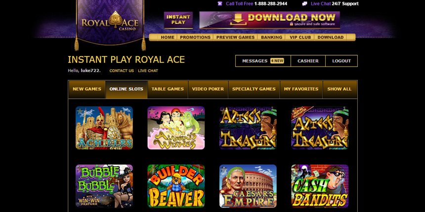 royal ace casino online review