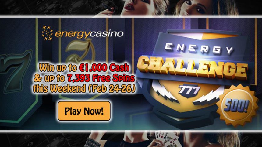 EnergyCasino Weekend Casino Bonus