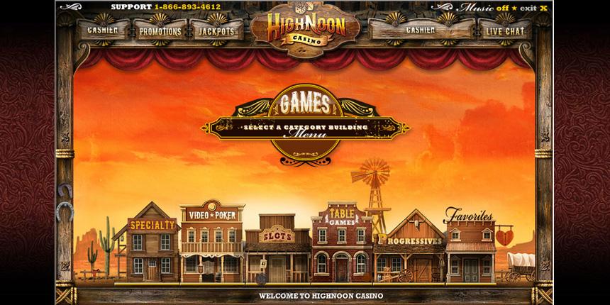High noon casino free money