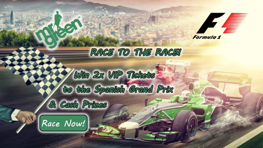 Mr Green Casino F1 Tickets