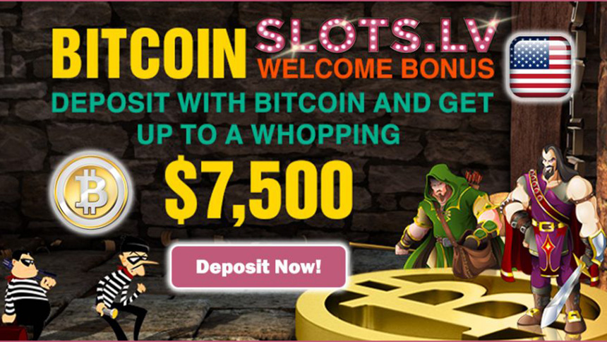 Bitcoin Welcome Bonus (Slots LV Casino)