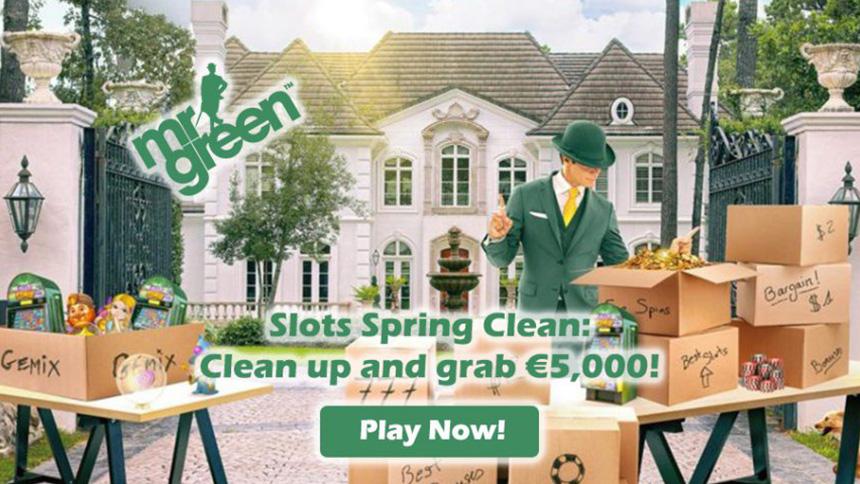 Mr Green Casino Slots Spring Clean