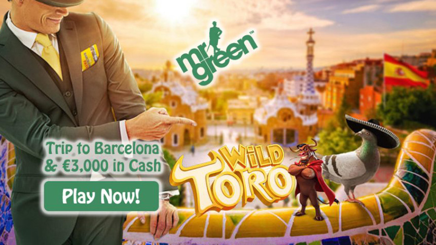 Mr Green Casino Trip tp Barcelona