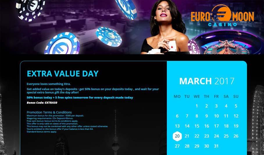 Euromoon casino bonus code
